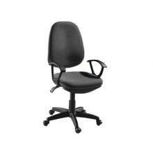 Silla giratoria q-connect base nylon regulable en altura 1020+120mm alto negra 475 mm largo 440mm profundidad.